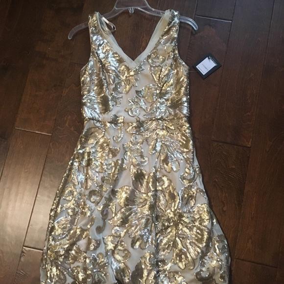 d6a7238247db MARINA Dresses | Nwt Gold Sequin Nordstrom Dress Size 4 | Poshmark